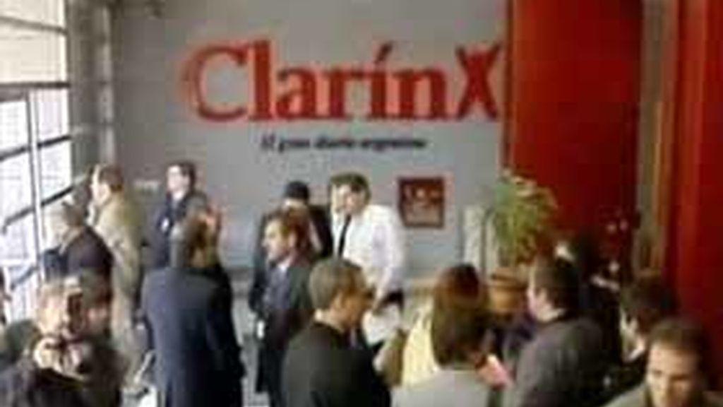 Registro en la sede de Clarín