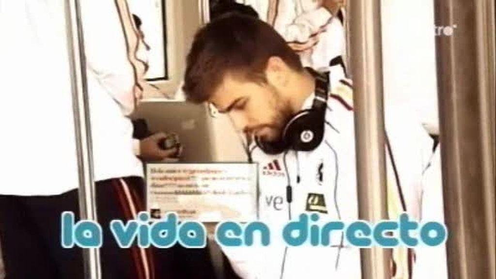 La vida en directo de Puyol, Piqué y Cesc