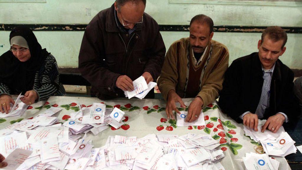 Recuento de papeletas en Egipto