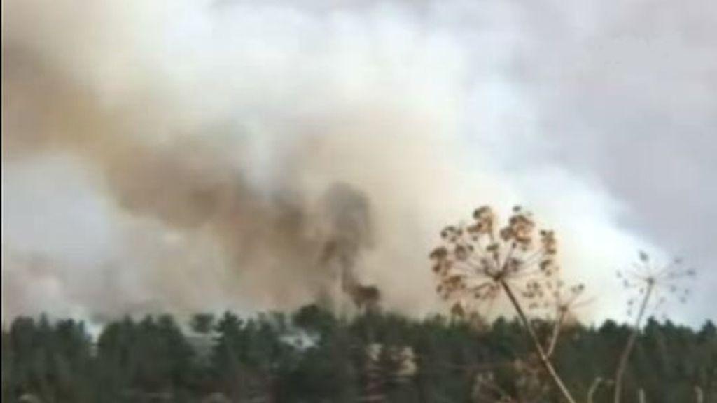 Incendio en Segovia