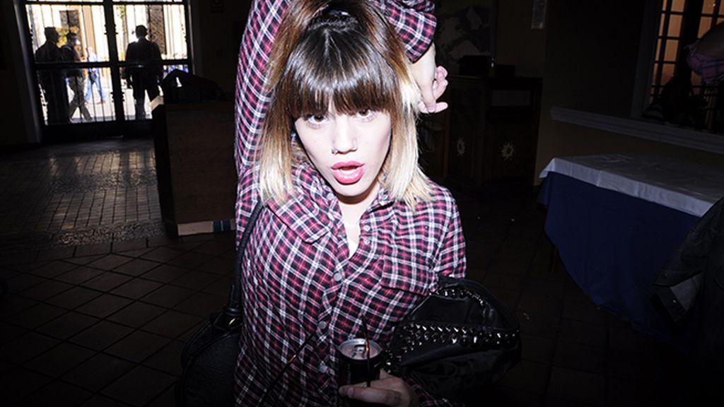 La cantante y actriz Angie