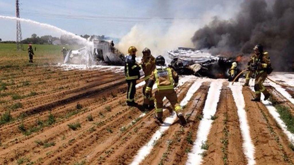 Se estrella un avión militar A400 en Sevilla