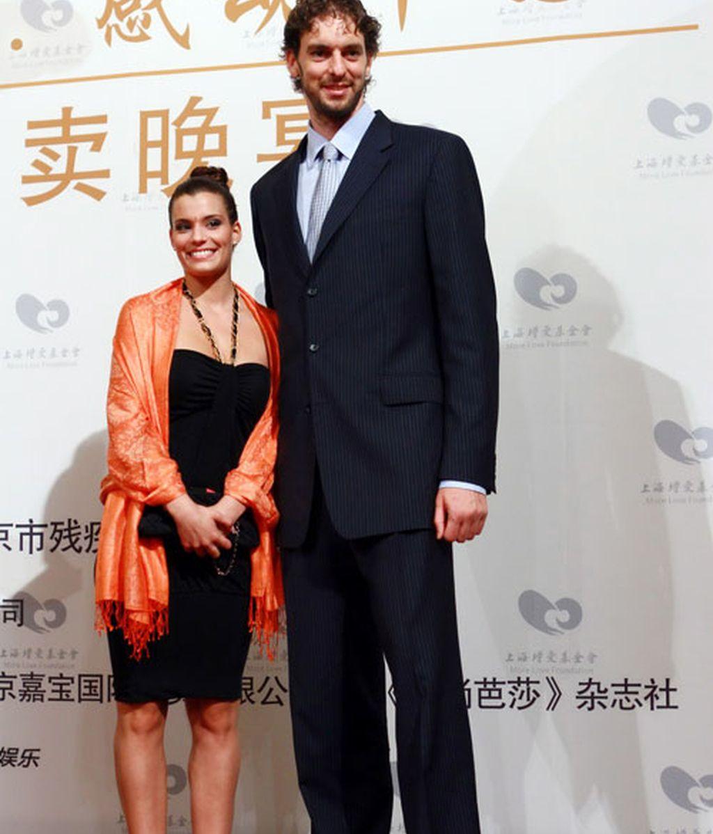 Pau Gasol con su novia