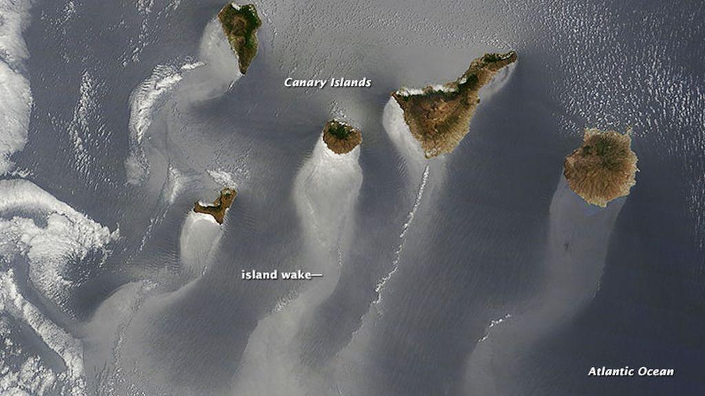 Las islas Canarias desde el cielo
