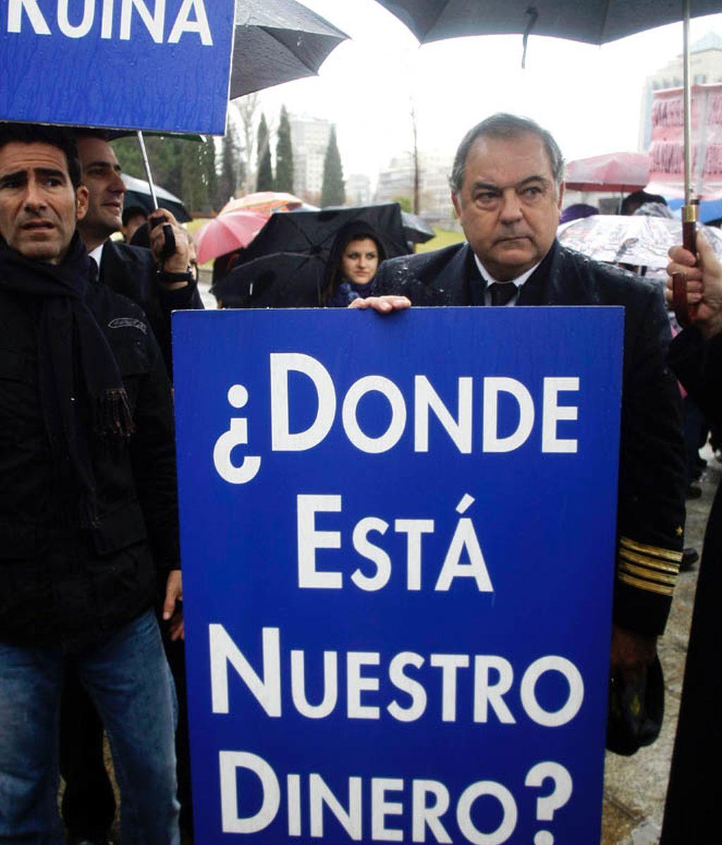 Manifestación contra Díaz Ferrán