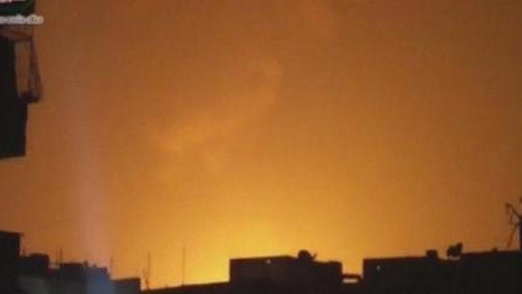 Un centro militar en Damasco registra fuertes explosiones causadas por un bombardeo israelí