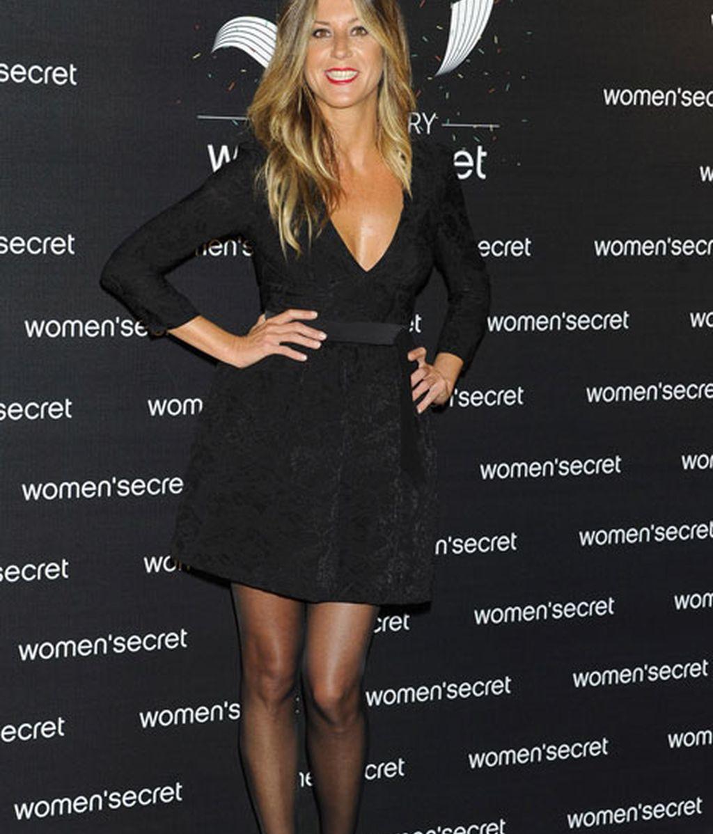 Natalia Álvarez también optó por llevar un vestido negro