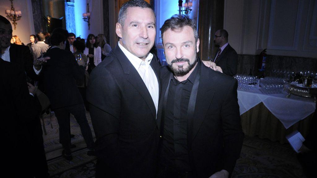 Matías Rodríguez, de Muypersonal comunicación, y David Sánchez de DyP