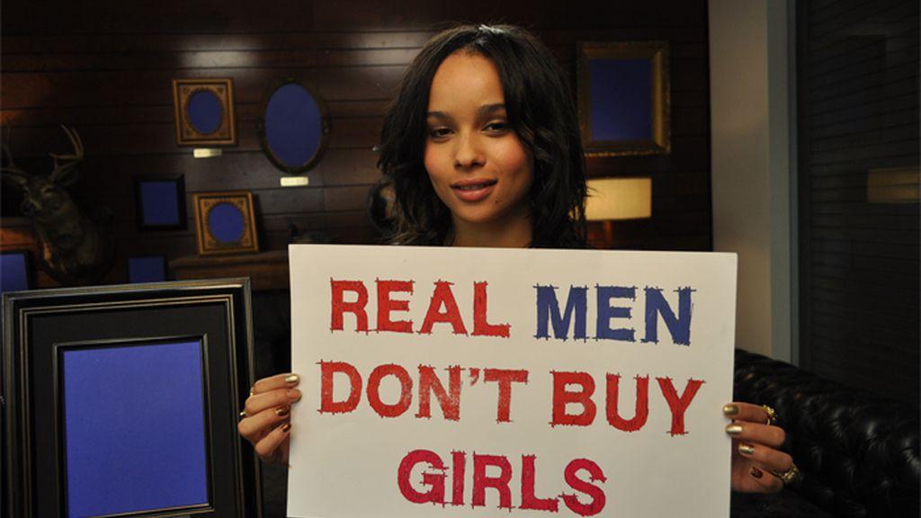 Zoe Kravitz   apoya la campaña