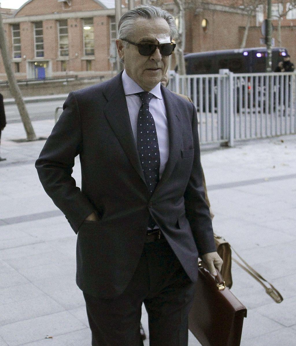 Miguel Blesa a su llegada a los juzgados