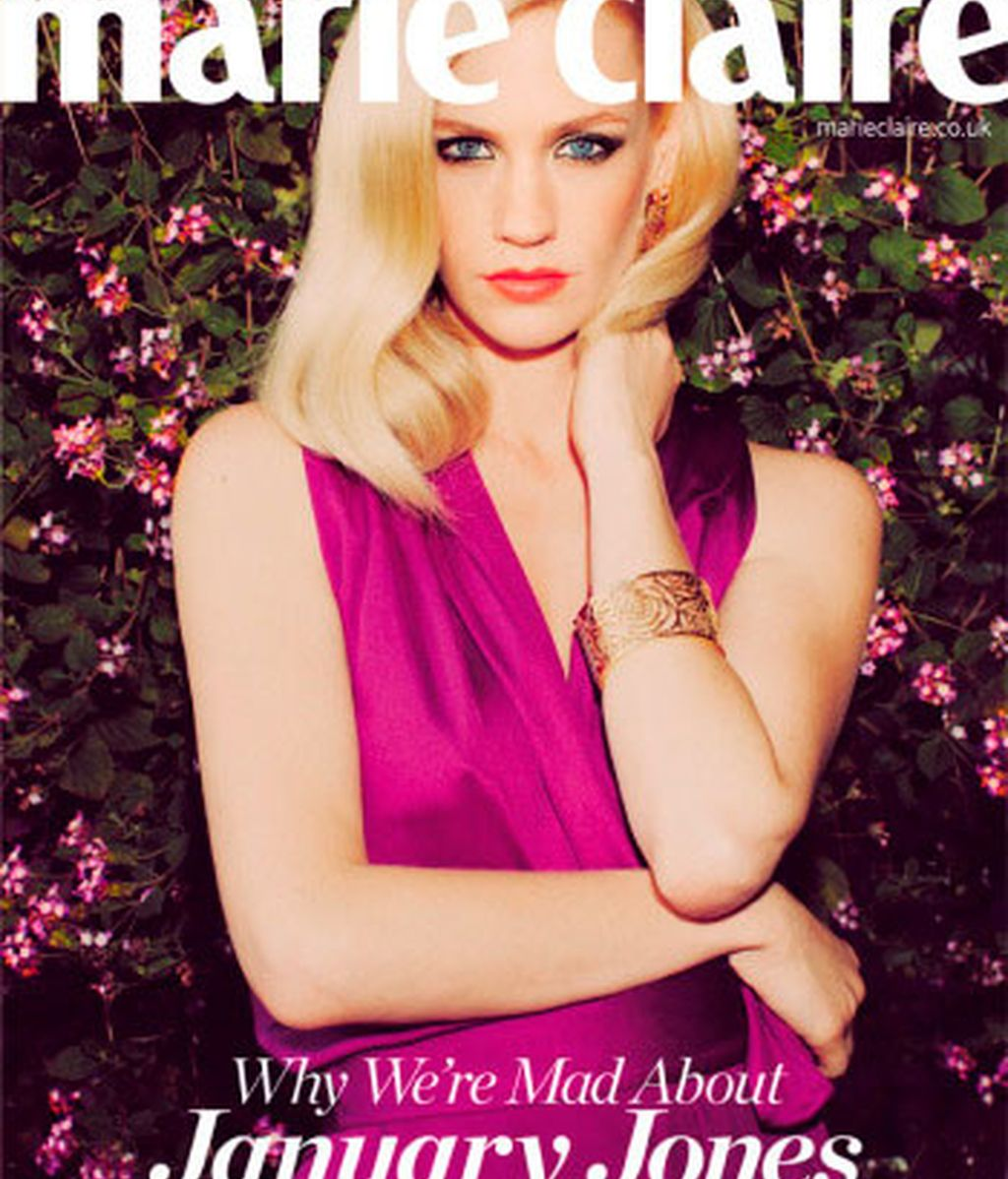January Jones lleva el glamour de Betty Drapper a la portada de Marie Claire