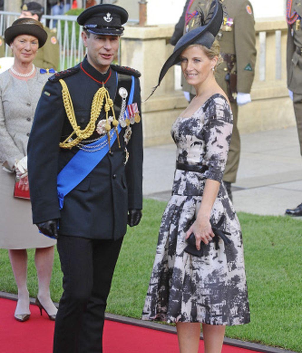El príncipe Eduardo de Inglaterra y Sophie Rhys Jones