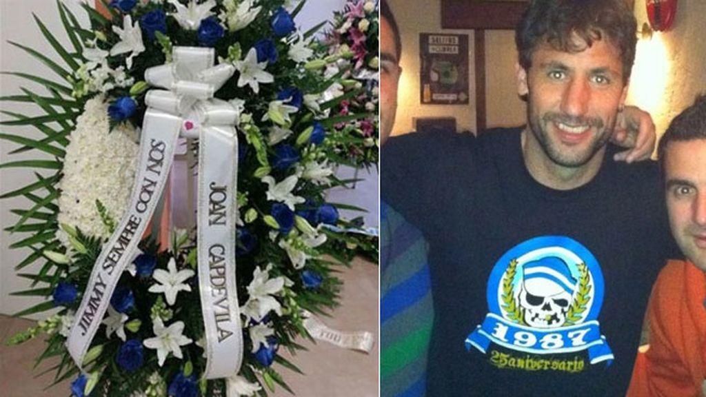 Joan Capdevila ha enviado una corona de flores al ultra fallecido