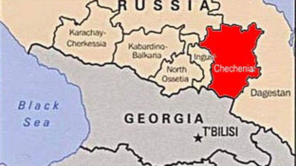 Mapa de Chechenia