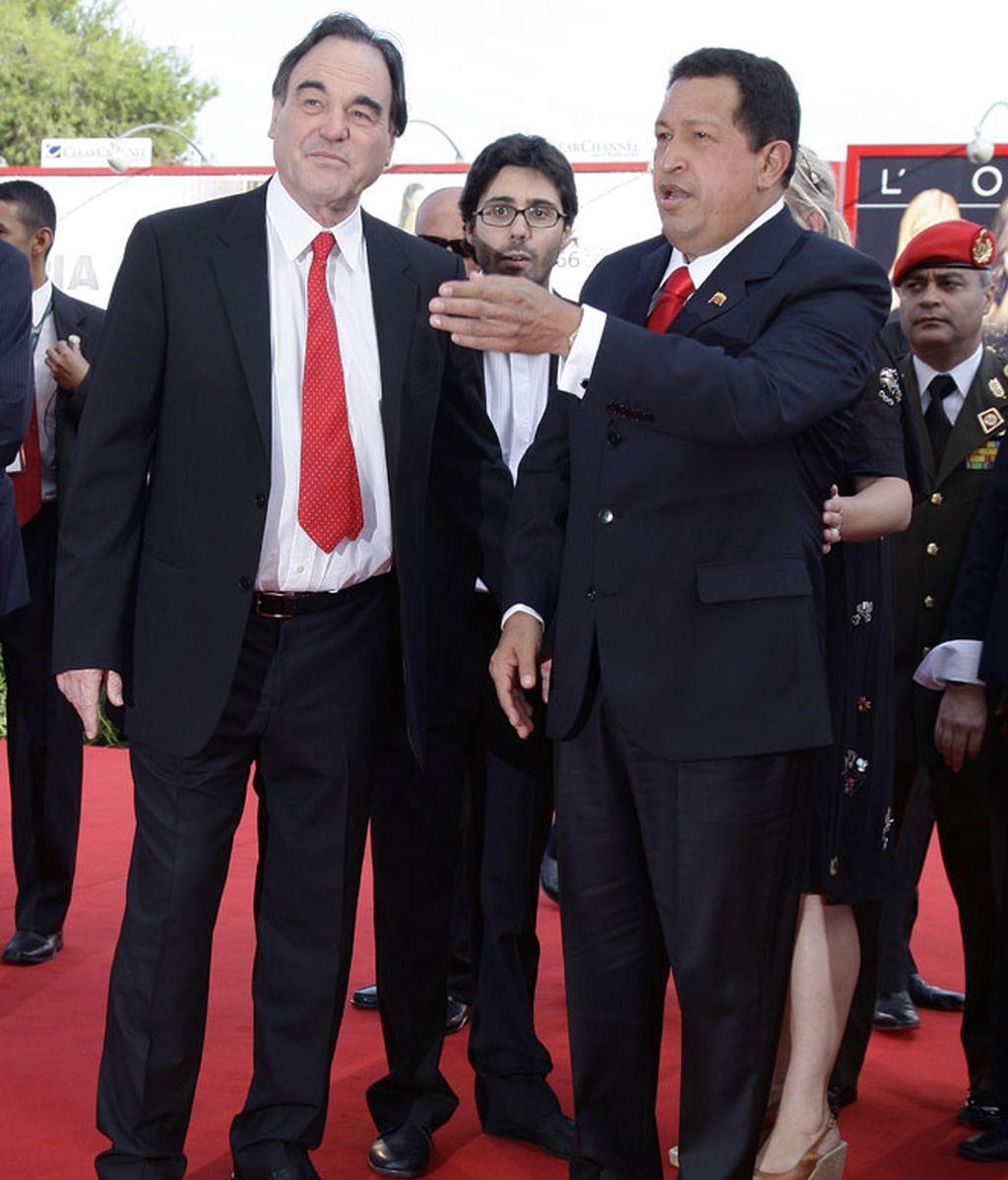 Oliver Stone y Hugo Chávez