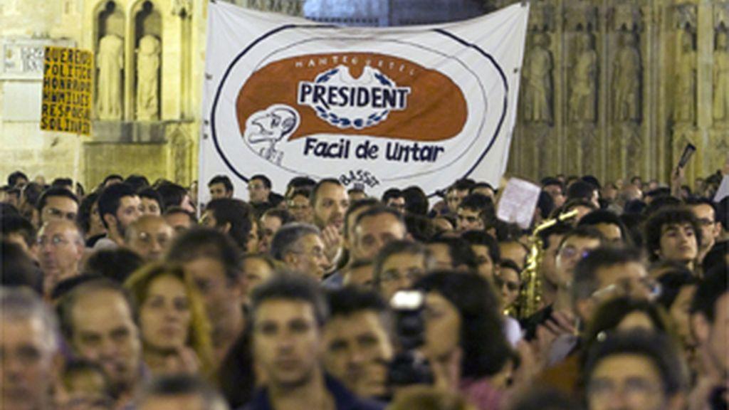 Manifestación en Valencia para pedir la dimisión de Camps