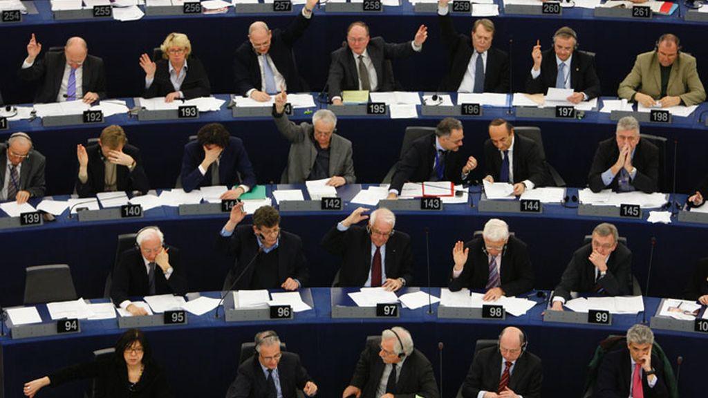 Votación de los parlamentarios europeos