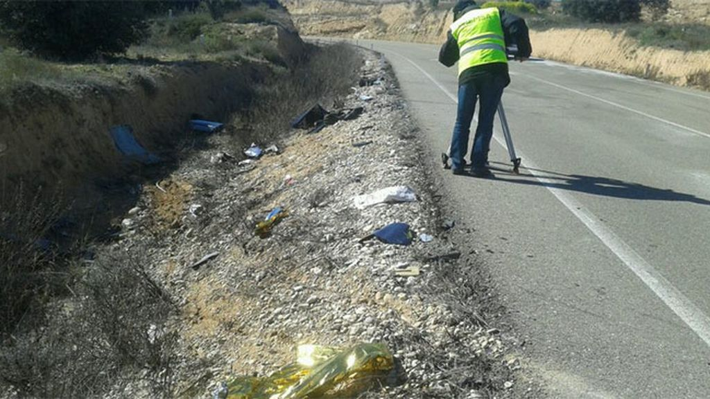Accidente en Maella, Zaragoza