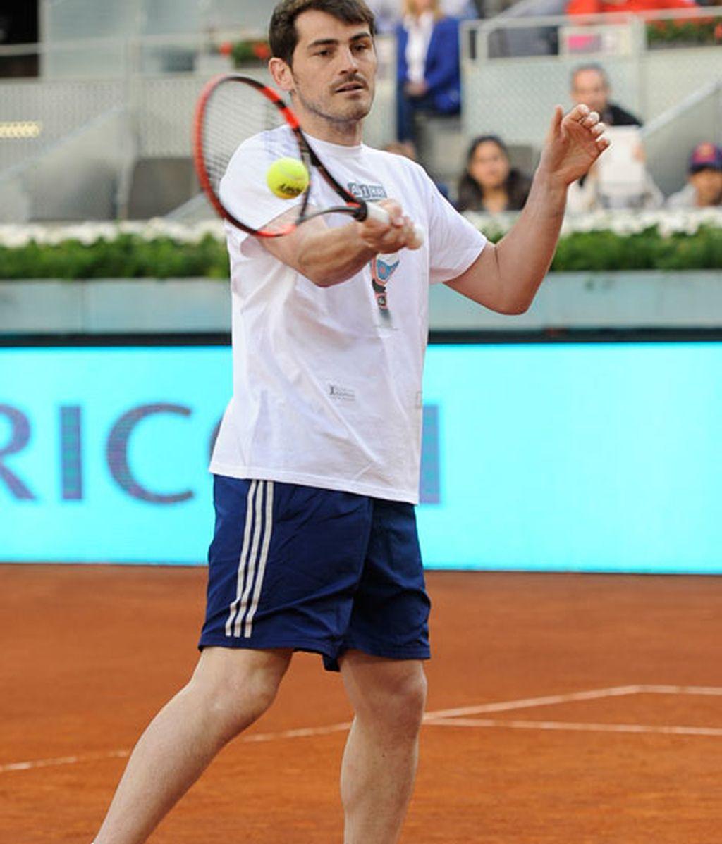 Iker Casillas, tenista por un día