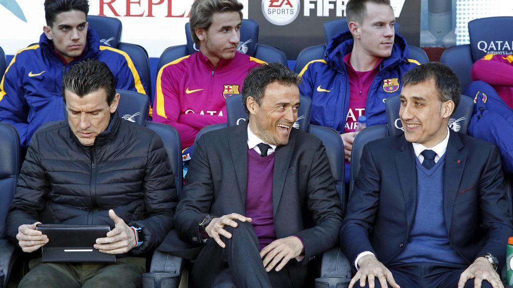Luis Enrique en el Camp Nou