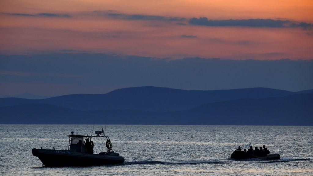 Inmigrantes rescatados en Grecia