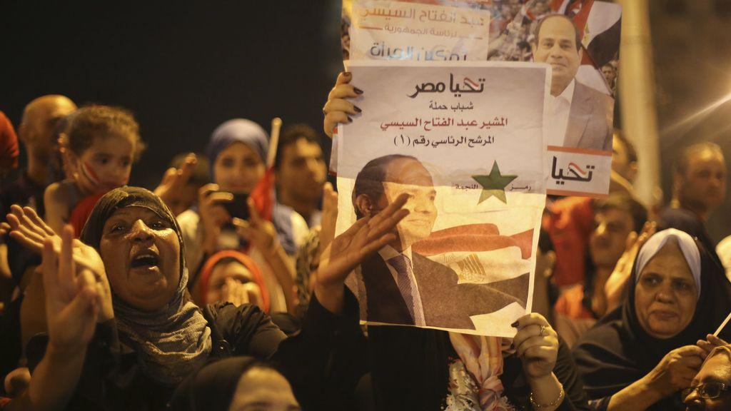 Los resultados no oficiales en Egipto dan a Al Sisi el 96,92% de los votos