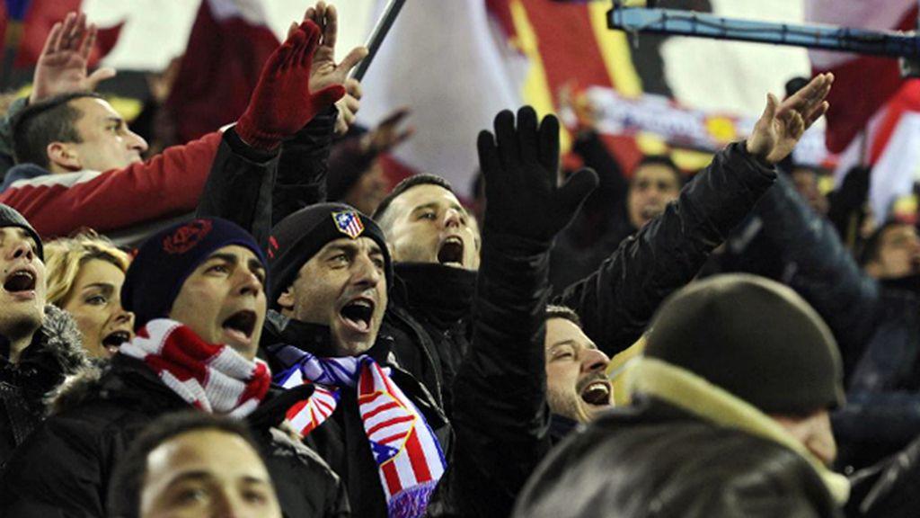Futre vivió un partido del Atlético con el Frente Atlético