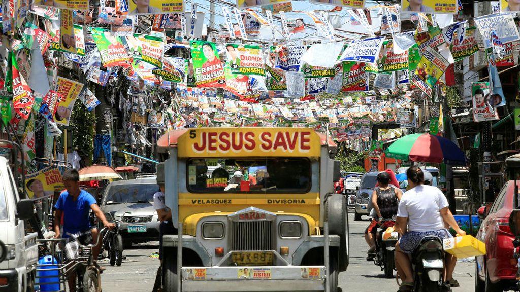 Tupida campaña electoral en Filipinas