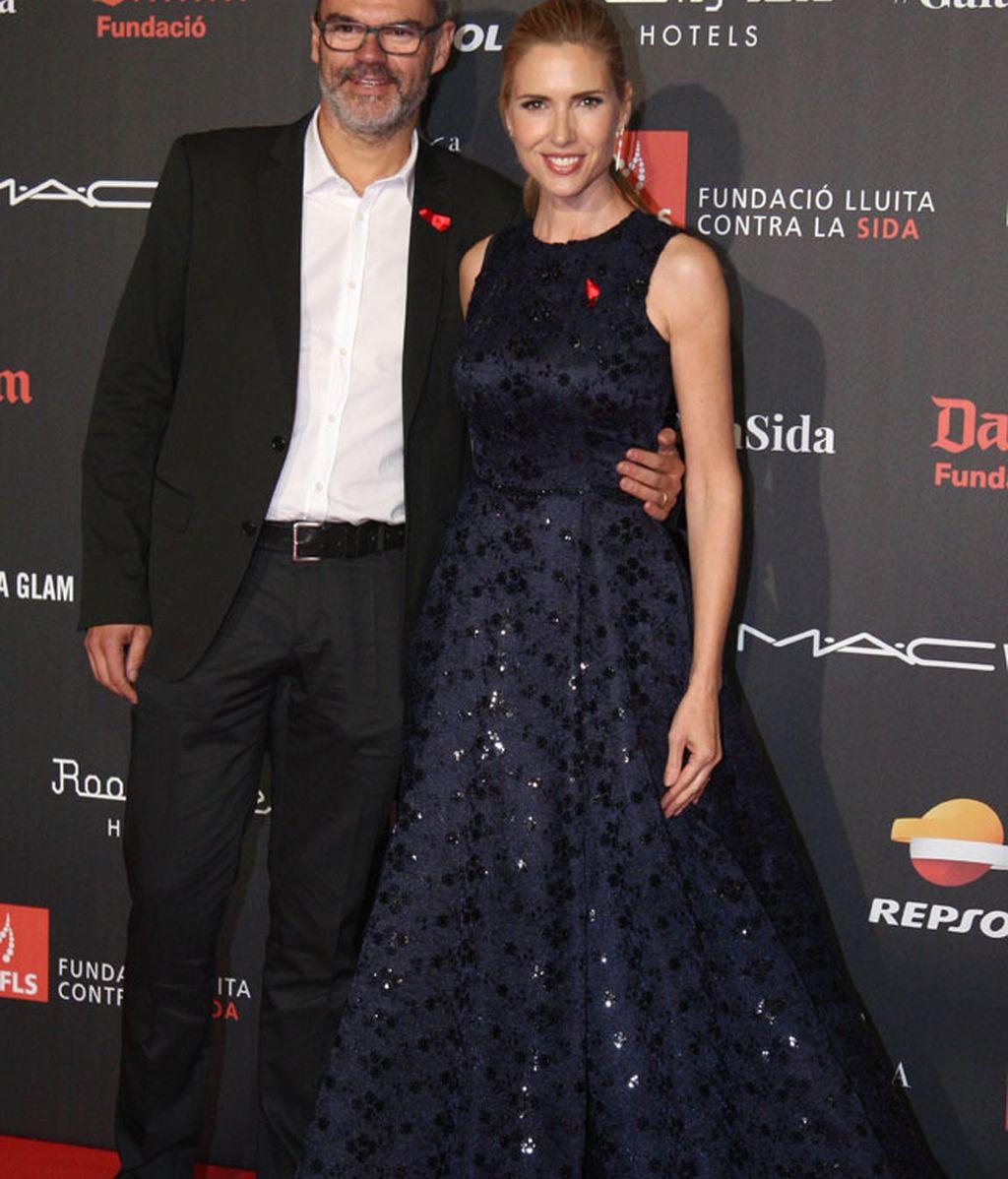 Judit Mascó y su marido Eduardo Vicente durante la gala