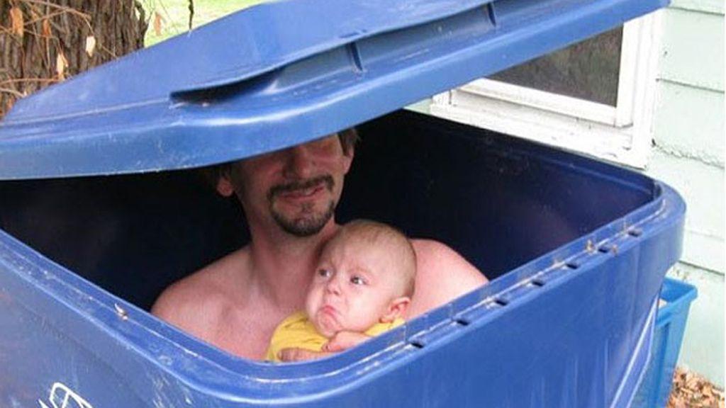El bebé, a la basura
