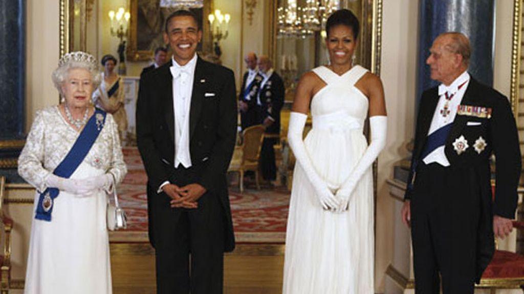 Cena de gala en el Palacio de Buckingham en honor de los Obama