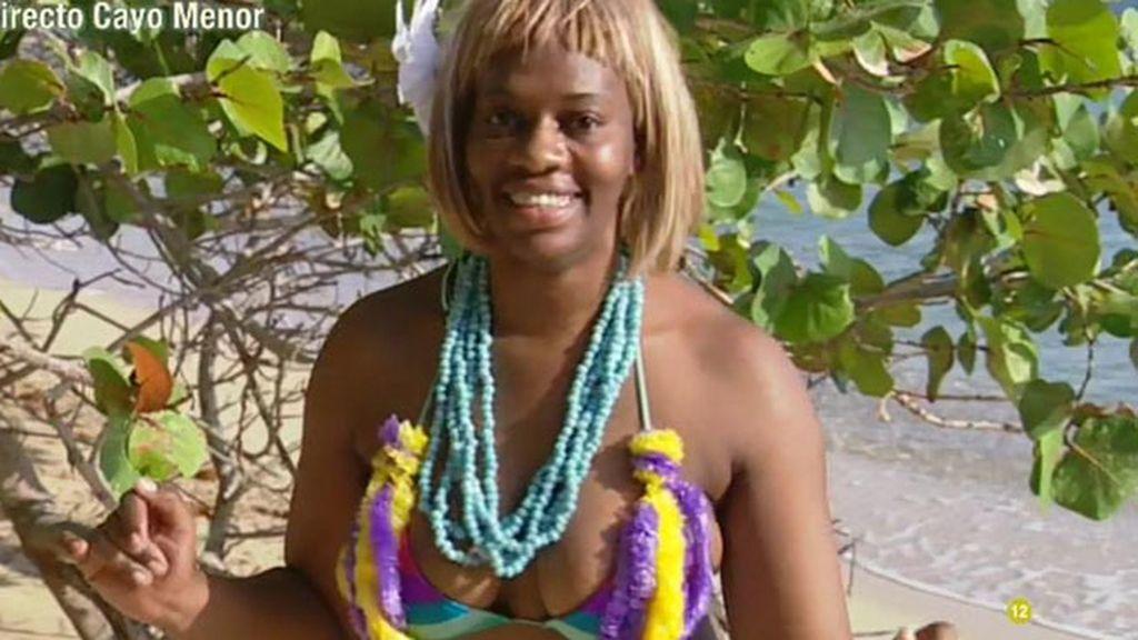 Carolina sobe ha llegado nadando hasta la playa