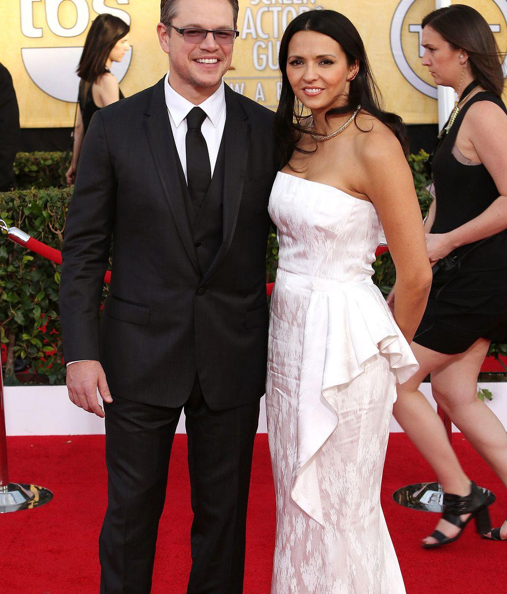 Matt Damon, junto a su mujer Luciana Barroso