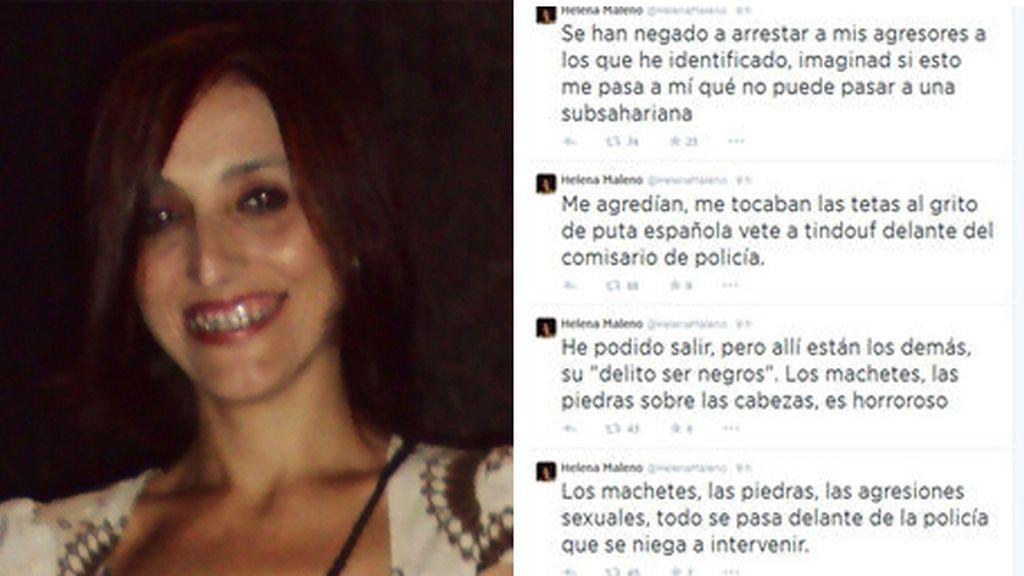 Helena Maleno, agredida en Tánger.