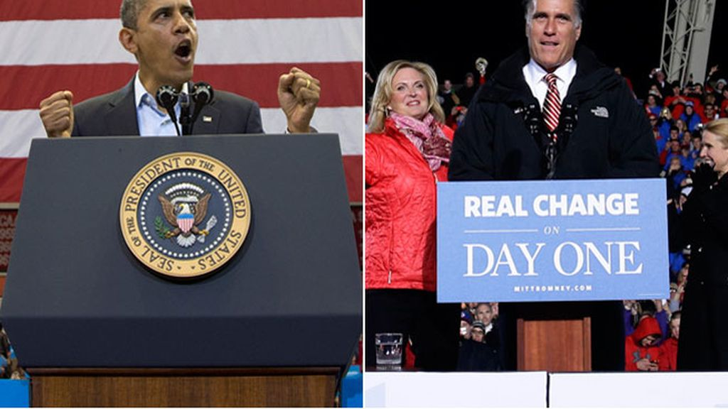 Obama y Romney apuran la campaña electoral