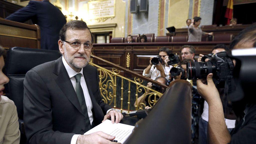 Mariano Rajoy durante el pleno en el Congreso