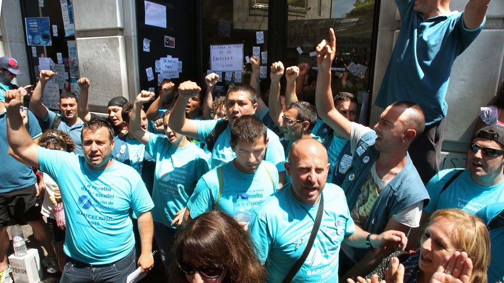 Subcontratados de Telefónica desalojan la sede del MWC en Barcelona