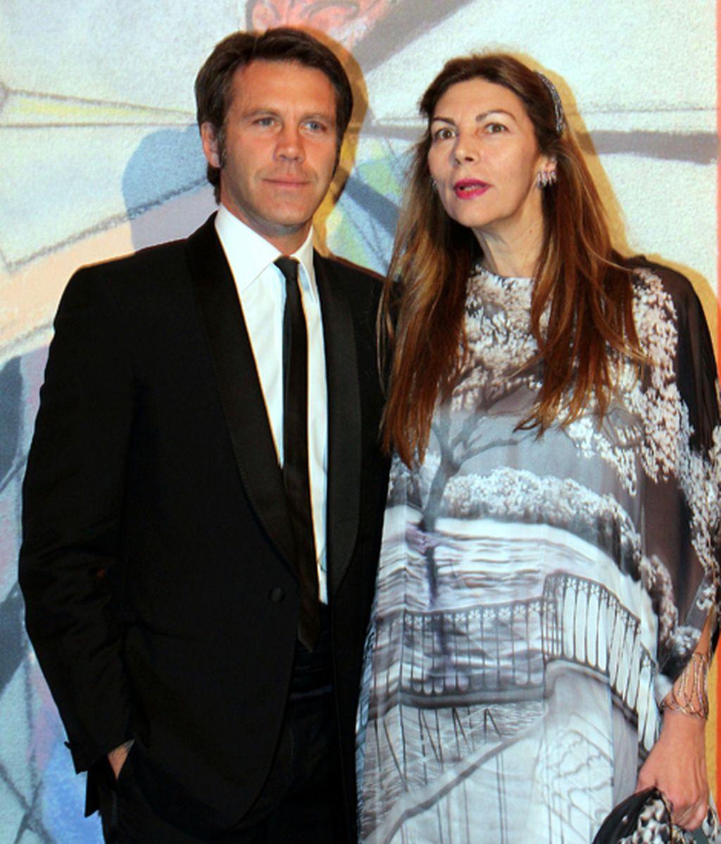 El príncipe Emmanuelle Filiberto de Saboya y su mujer, Clotilde