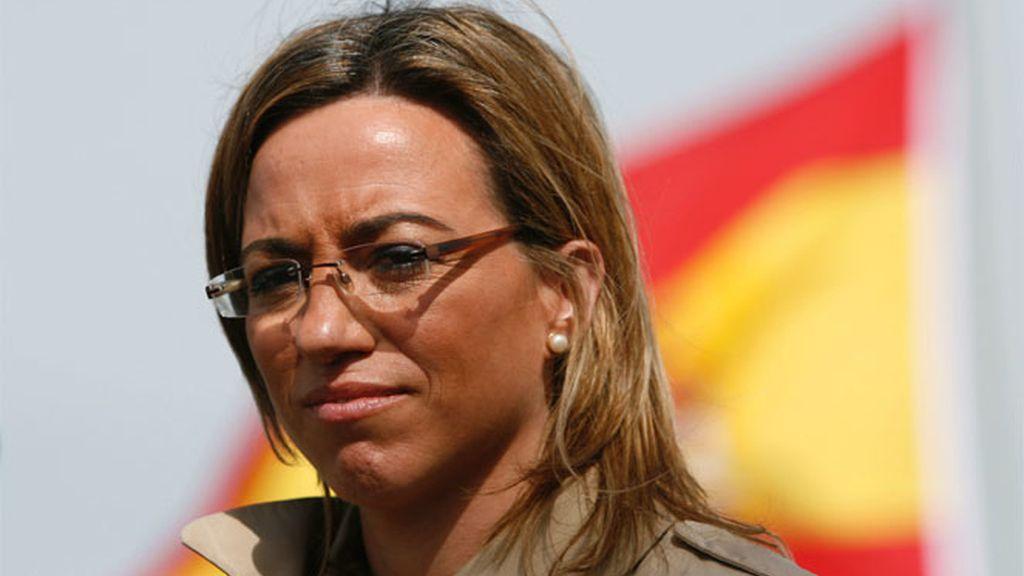 La ministra de Defensa, Came Chacón, en la base naval de Rota