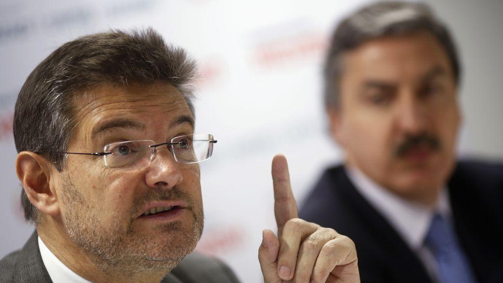 Catalá no descarta una subida de las tasas judiciales para empresas, pymes y ONGs
