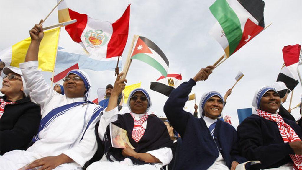 Fieles católicas en Ammán