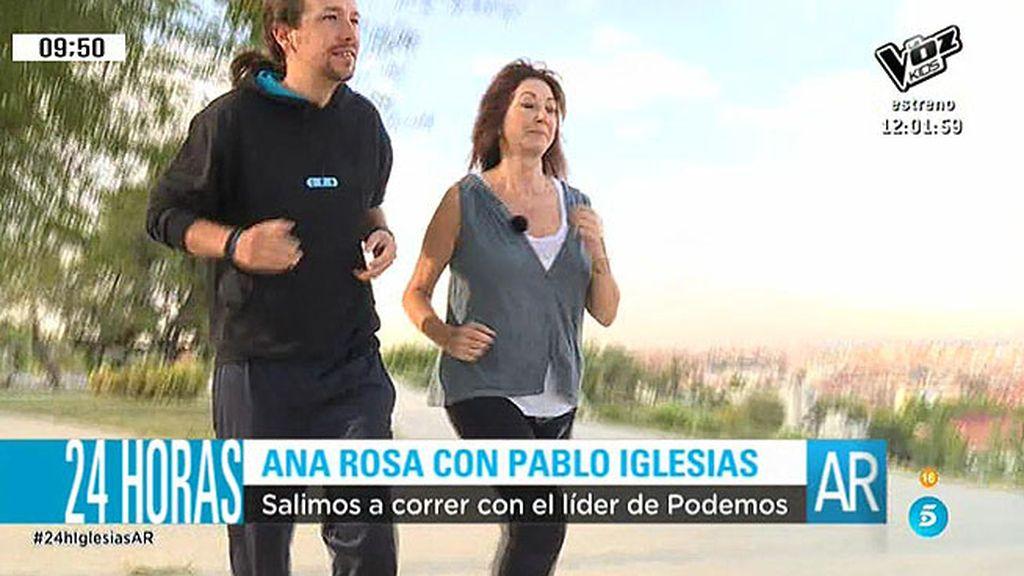 Han salido a correr, han desayunado juntos, comido con el nucleo duro de Podemos...