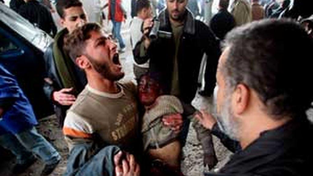 Imagen del reciente ataque israelí a Gaza. Foto: EFE