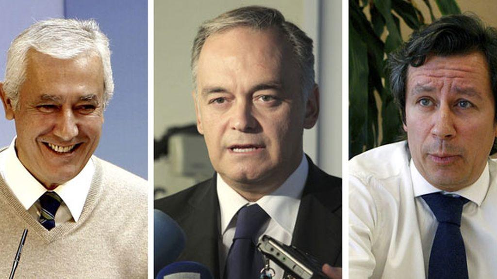 Javier Arenas, Esteban González Pons y Carlos Floriano son el núcleo duro del PP.