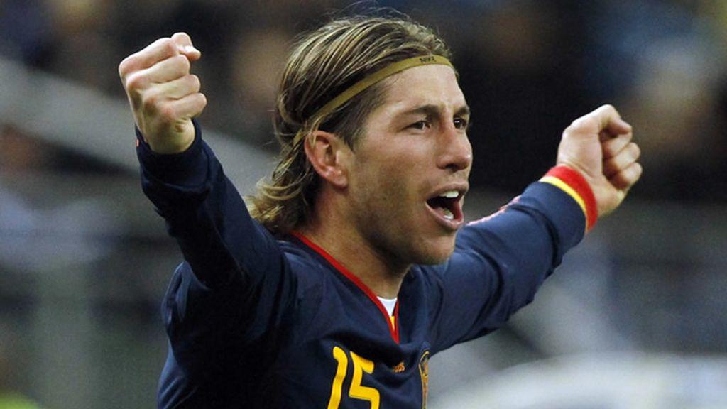 Sergio Ramos celebra el tanto marcado