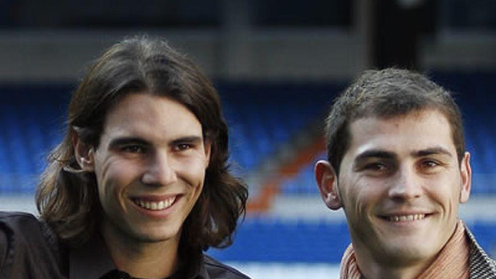 Iker Casillas y Rafael Nadal