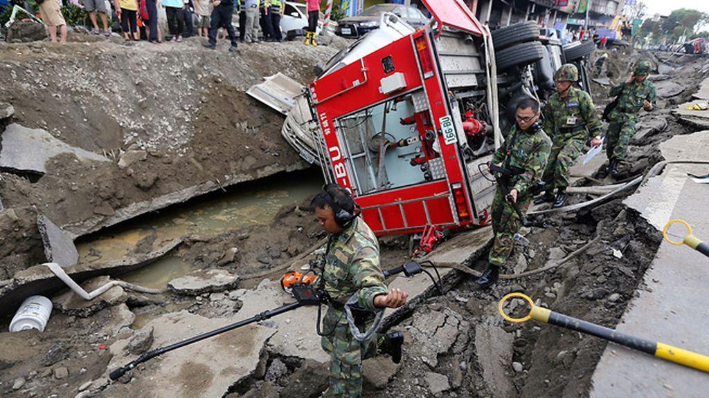 La ciudad de Kaohsiung ha quedado devastada