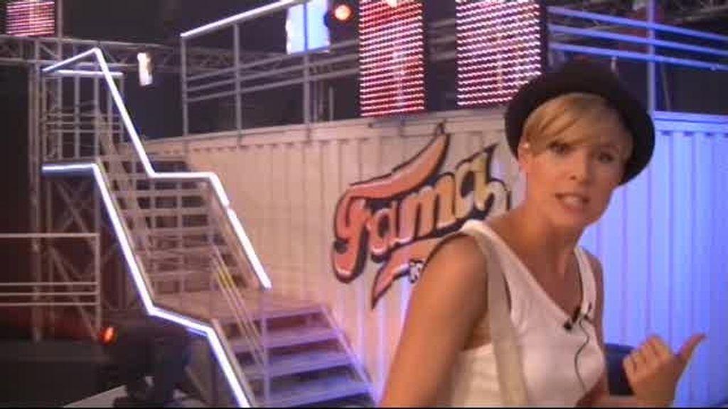 Tania nos enseña el 'backstage' de Fama