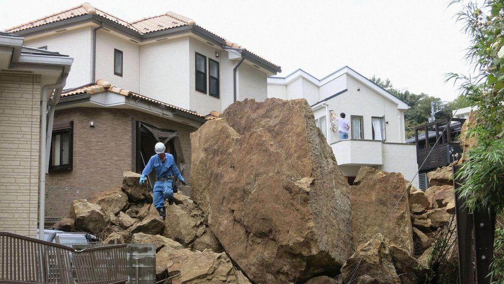 El tifón 'Wipha' azota Japón