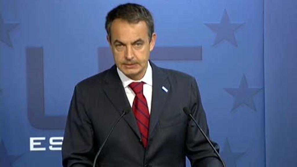 """Zapatero: """"Mi firmeza y determinación de acabar con ETA es inquebrantable"""""""